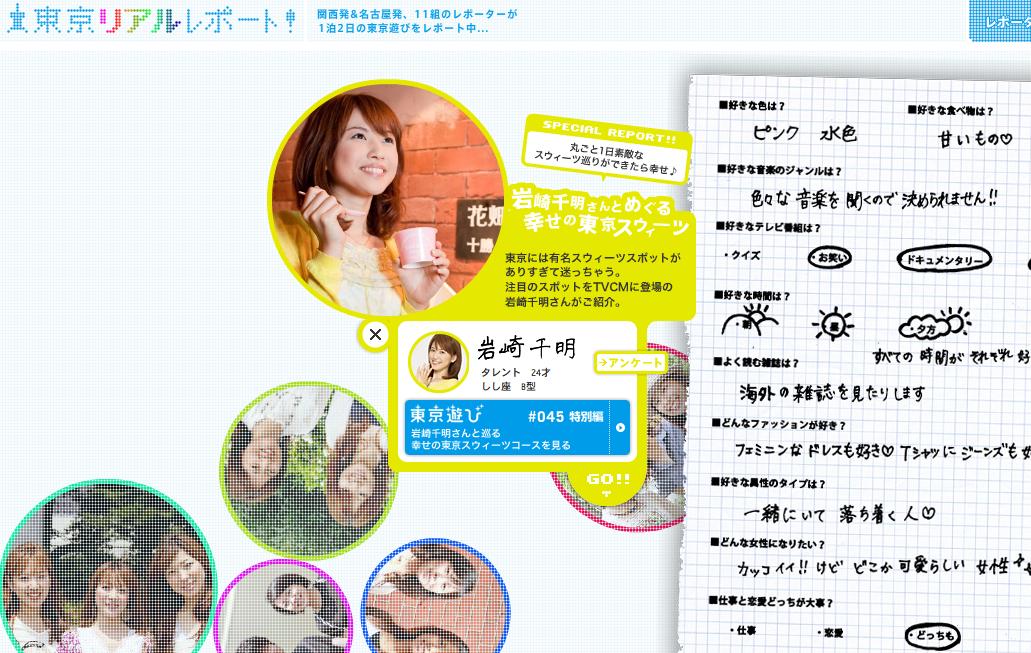 東京リアルレポート! | トーキョー☆ブックマーク width=