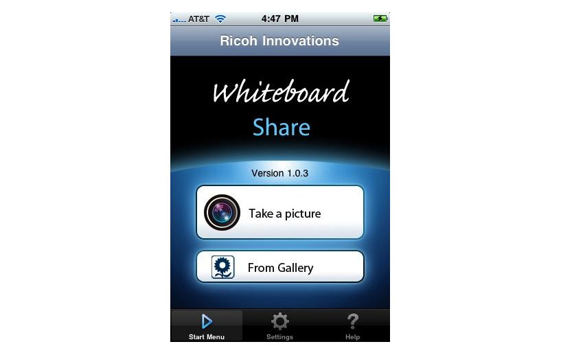 whiteboard Share / iPhone app width=