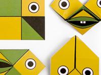 funny face card / 折り紙