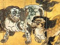 唐獅子図屏風