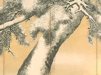 雪松図屏風