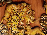 秩父神社 子宝子育ての虎 / 彫刻