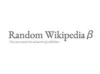 Random Wikipedia β